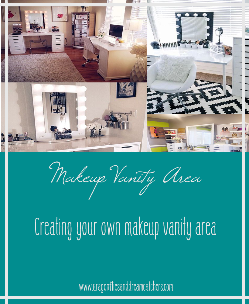 creating your own makeup vanity area