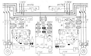 Схема электропривода насосов РЭГ