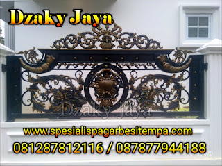 Contoh Pagar Besi Tempa Model Klasik untuk pagar rumah klasik