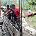 Satgas Raider 300 Gotong Royong Pembangunan Gereja ST. Yohanes