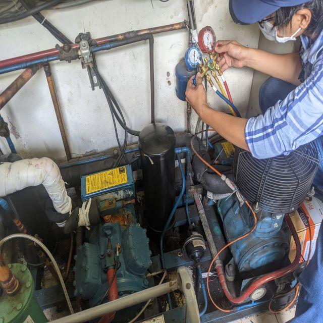 sửa kho lạnh thiếu gas kém lạnh