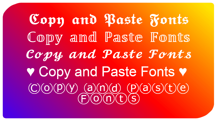 copy and paste fonts fancy text generator