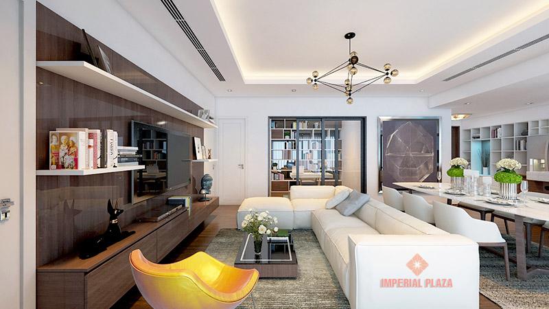 Phòng khách căn hộ chung cư Imperial Plaza