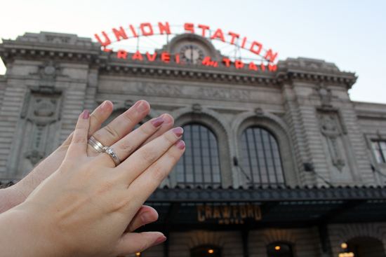 Wedding Ring Selfie Tradition Denver Union Station