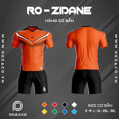 Áo Không Logo Rozaco RO-ZIDANE Màu Cam