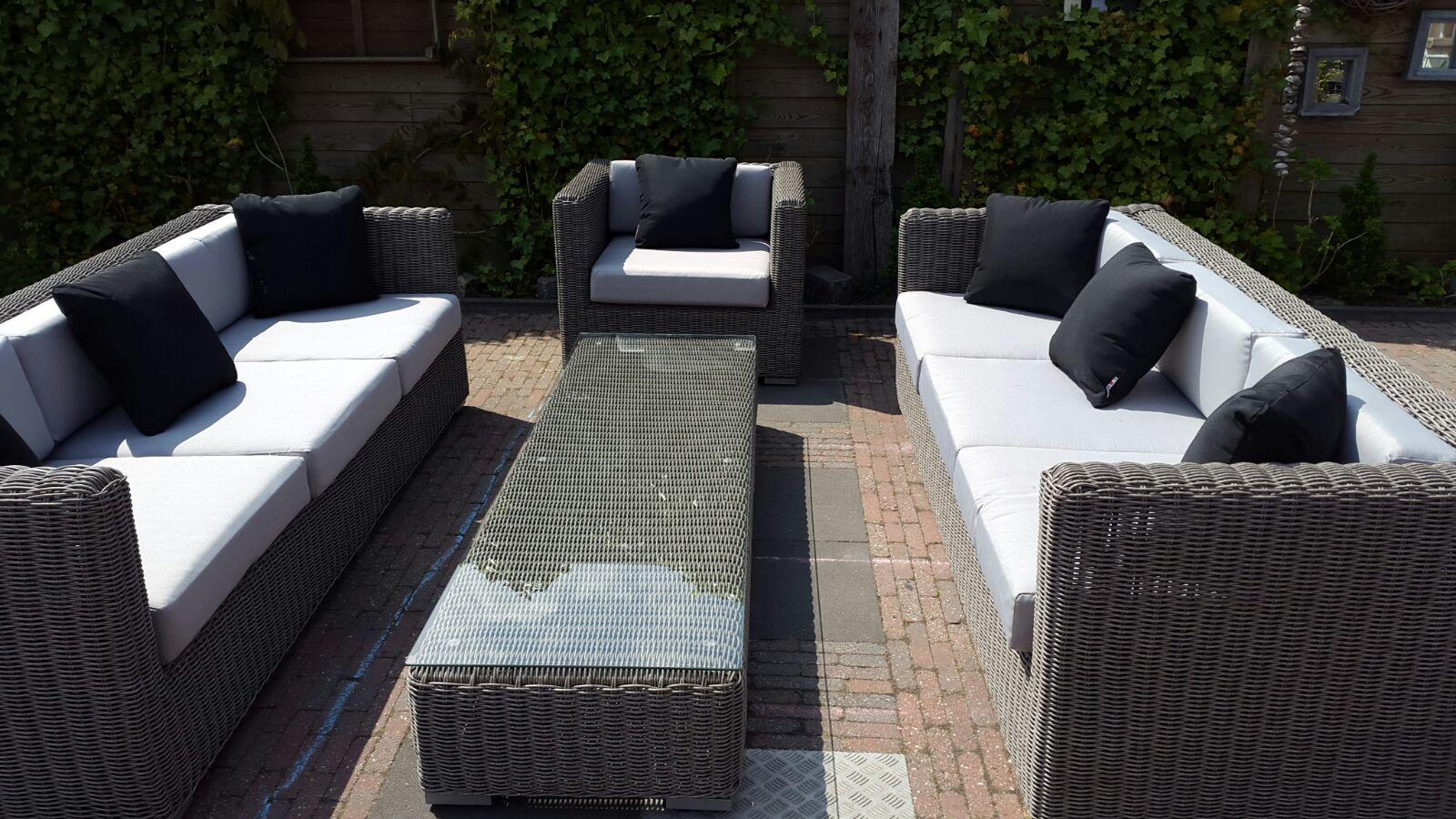 Arbrini design tuinmeubelen - Lounge design grijs ...