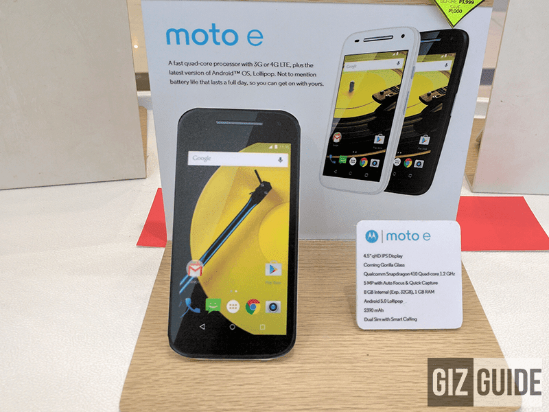 Moto E 2nd Gen on sale at 2,999 Pesos