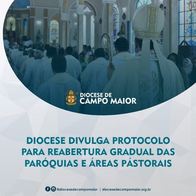 Diocese de Campo Maior divulga protocolo para reabertura das Igrejas e Áreas Pastorai