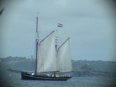 boat in full sail