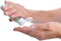 Gel igienizzante per le mani. Disinfettante Coronavirus