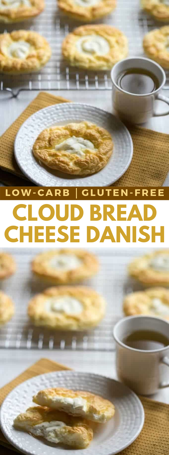 Cloud Bread Cheese Danish – Egg Fast #healthydiet #breakfast