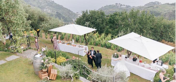 Elegant Wedding by the Sea of Cinque Terre in Italy
