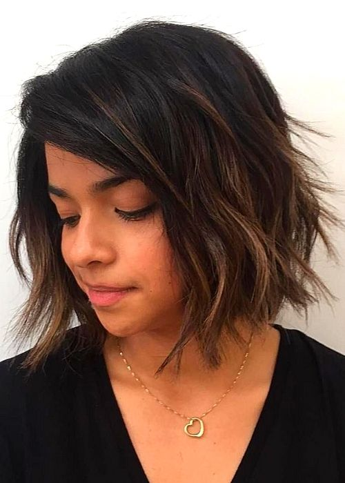 Flattering Hairstyles for Oval Face - Short Bob Shag Haircut