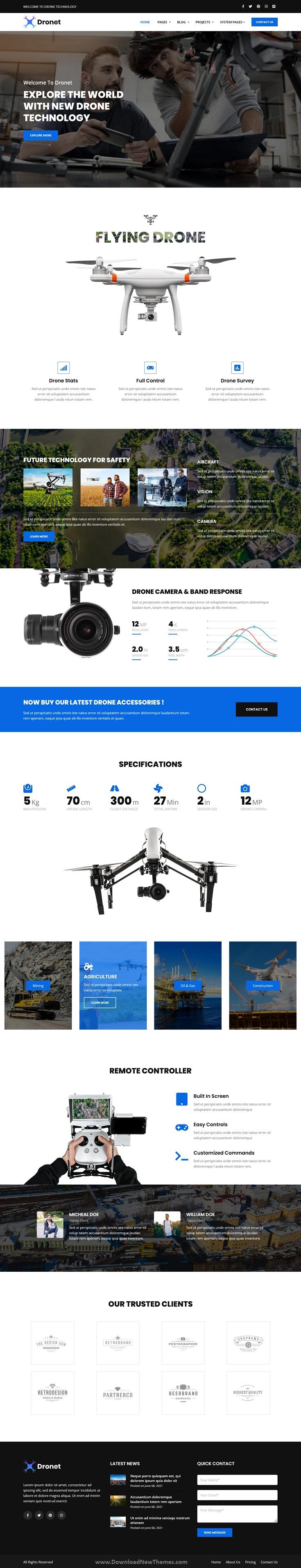 Drone & UAV Business HubSpot Theme