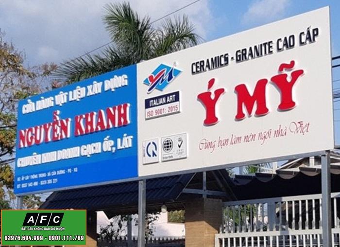 Thi công biển quảng cáo Mica đẹp tại Phú Quốc