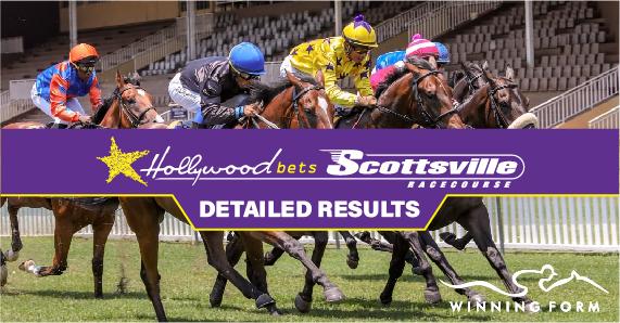 Jockeys race horses