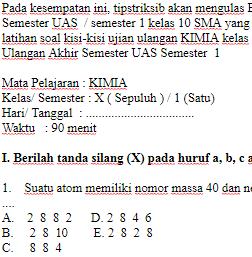 Soal-Ulangan-Ujian-UAS-KIMIA-kelas-10-X-SMA-Semester-1