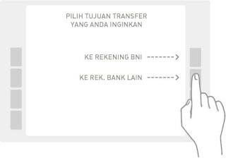 "Pilih tujuan transfer ""Ke Rek. Bank Lain"""