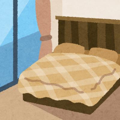 寝室のイラスト(室内風景)