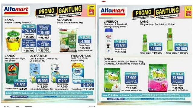 Edisi Gantung, Promo JSM Alfamart 28 November 2020, Mulai dari Minyak Goreng Hingga Susu