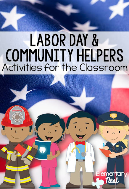 Labor Day and Community Helpers activities and reading passages for the primary classroom- ideas to incorporate into your lesson plans to teach Labor Day and Community Helpers