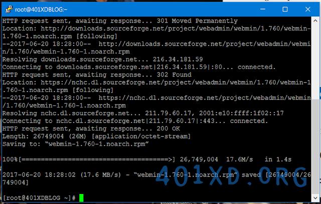 script Install Webmin di VPS Centos