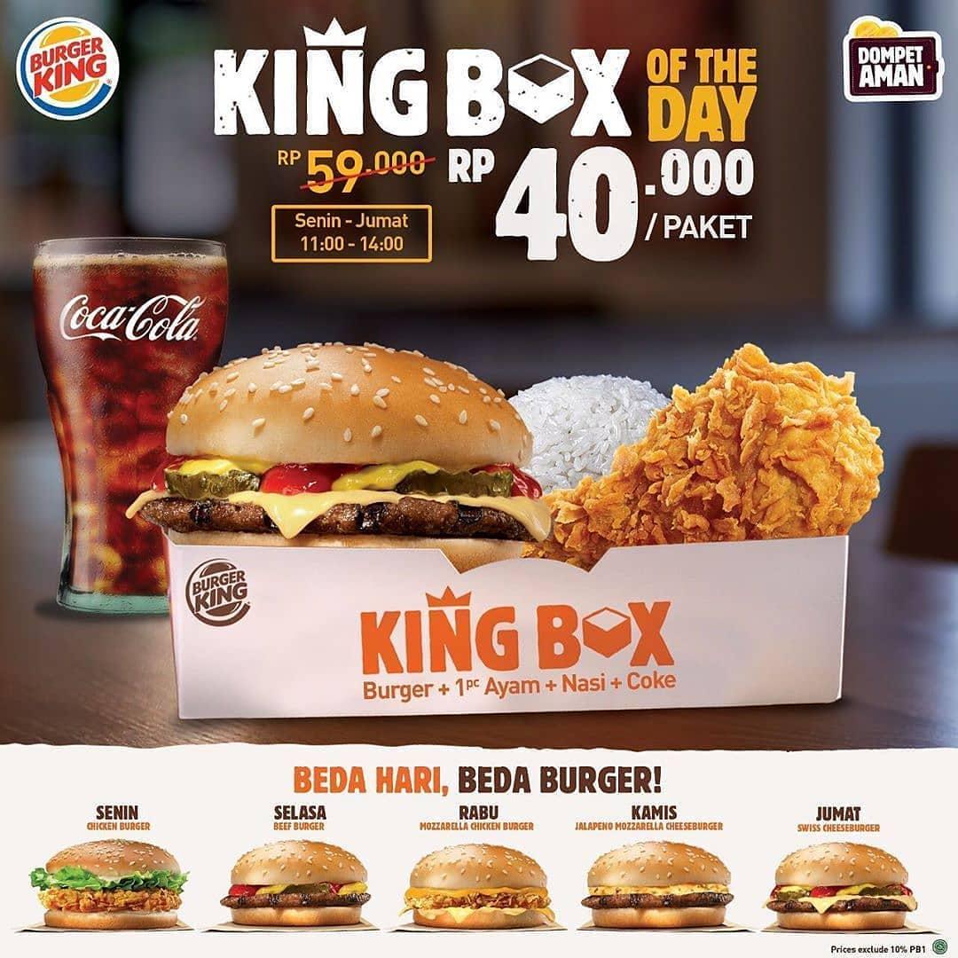 Burger King Promo King Box Of The Day Rp 40 000 Per Paket Scanharga