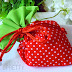 Baptism bombonieres strawberry pouches B051