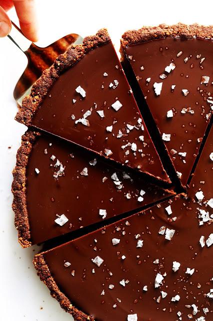 THE MOST AMAZING SALTED DARK CHOCOLATE TART