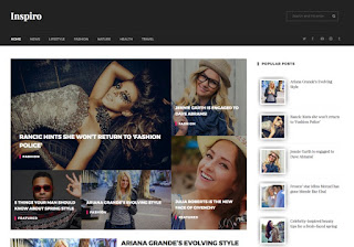 Inspiro Multipurpose free Blogger Template