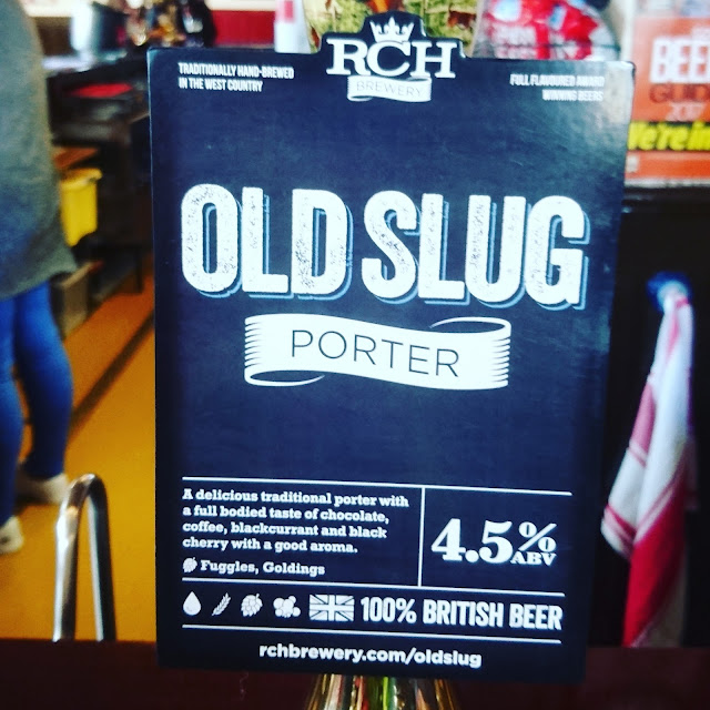 Somerset Craft Beer Review: Old Slug Porter from RCH real ale pump clip