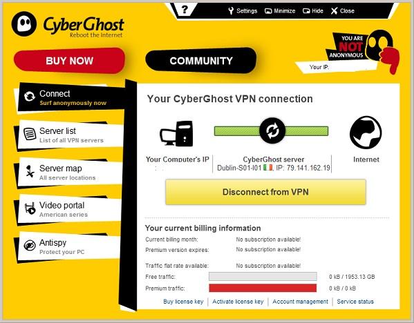 برنامج CyberGhost