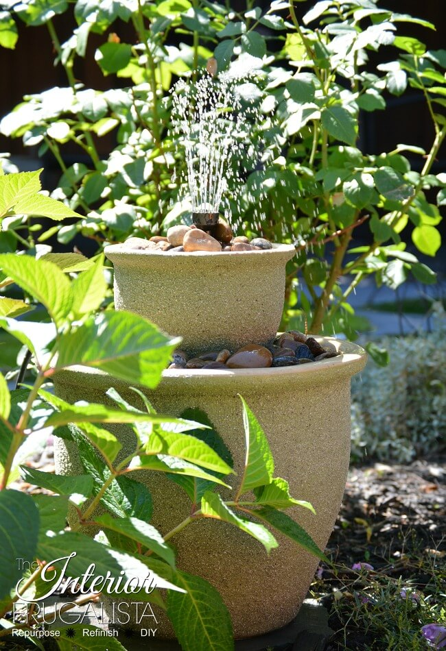 DIY Two Tier Plant Pot Water Fountain