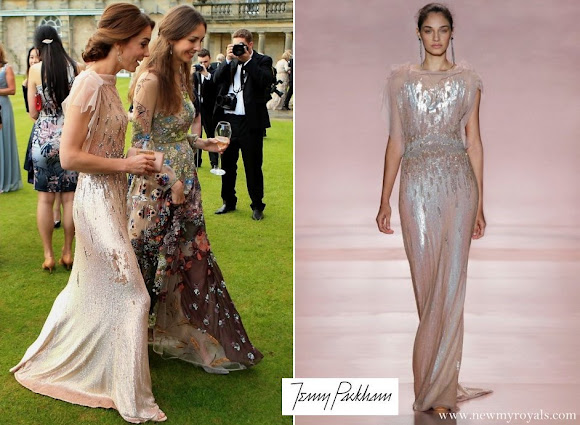 Kate Middleton wore JENNY PACKHAM Bridal Gown
