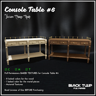 [Black Tulip] Textures - Console Table #6