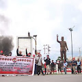 Bala Dayak Kabupaten Landak Berorasi Tuntut Pelaku Rasisme Ditangkap
