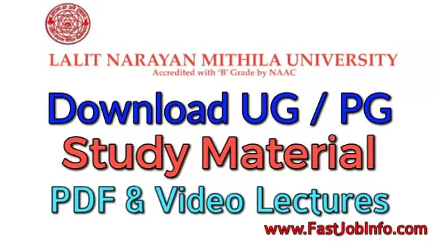 LNMU Download UG/PG Study Material (PDF & Video Lectures)