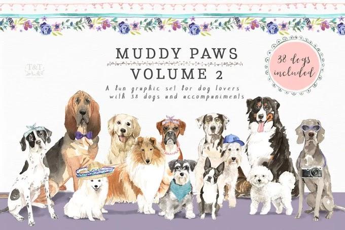 CreativeMarket Muddy Paws Volume 2 – Dogs Galore 2388098