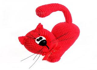 amigurimis, gato corazón, crochet, tutoriales