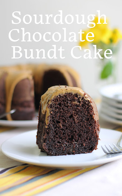 Food Lust People Love: The sourdough starter isn't an obvious flavor in this sourdough chocolate Bundt cake but the moisture it adds makes this the most tender and light – yet so rich! – chocolate cake I've ever tasted.