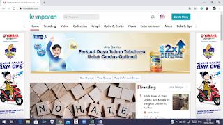 Homepage Kumparan