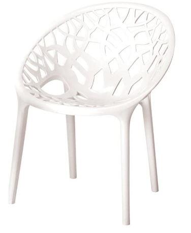 Nilkamal Crystal Chair (Milky White)