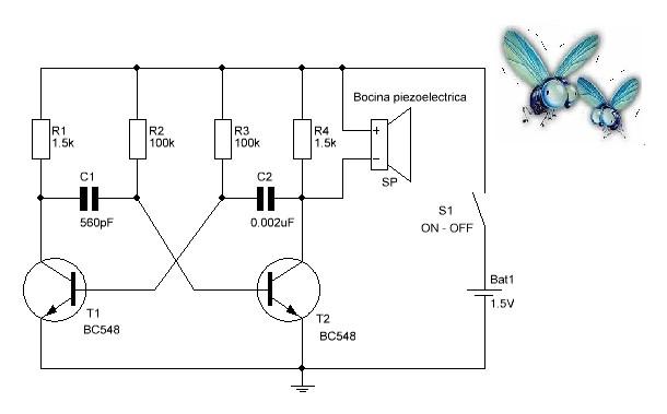 Circuito repelente de mosquitos kits de electr nica y - Ahuyentador de mosquitos ...