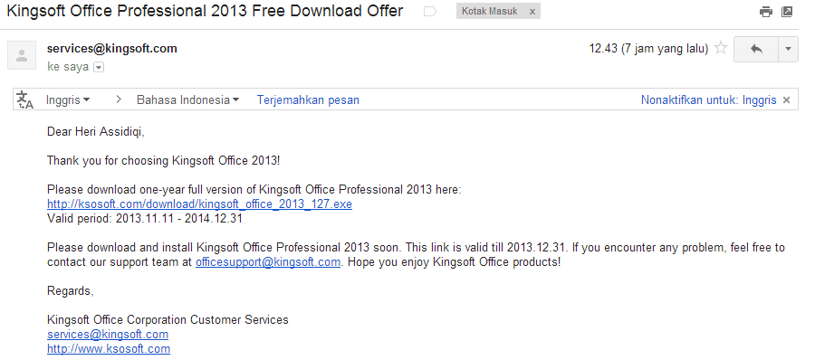 Kingsoft Office Professional 2013 Full Version