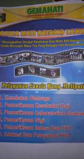 """Sosialisasi Program """"GEMAHATI SAYANG LANSIA"""" di Puskesmas Keruak, Selong Lombok Timur, Nusa Tenggara Barat (NTB)"""