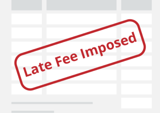 late payment fee