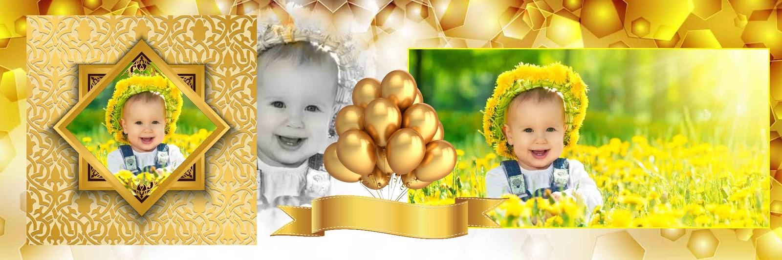 Dx Album Birthday Golden Backgrounds Album 12x36 Psd