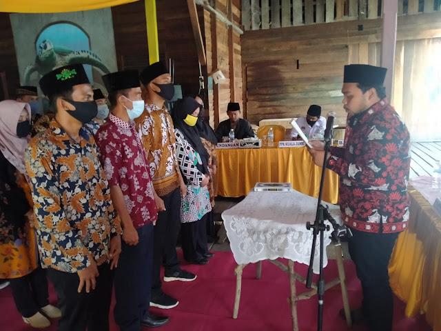 Panwaslu Kecamatan Kuala Jambi Lantik 39 Anggota PTPS Se-Kecamatan Kuala Jambi