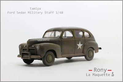 Ford Sedan Military Staff  Tamiya au 1/48.