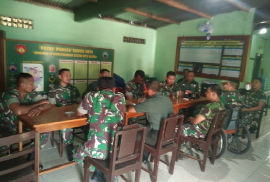 Komandan Koramil 12 Manisrenggo Minta Anggota Tingkatkan Kinerja